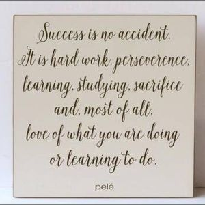 """Success Is No Accident Wooden Sign 12"""" x 12"""""""